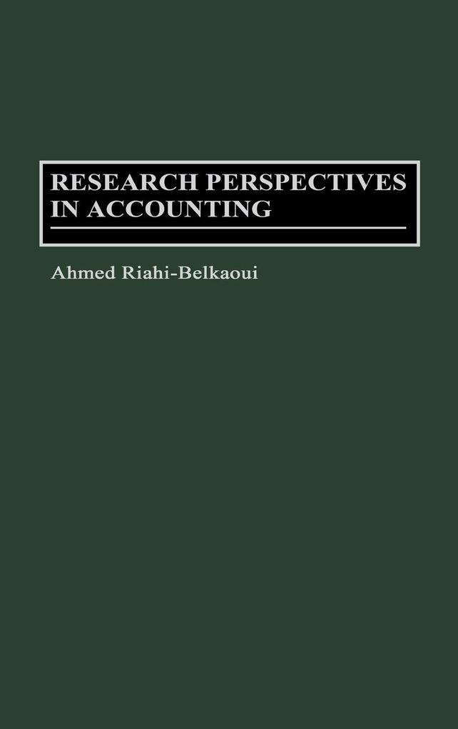Research Perspectives in Accounting als Buch (gebunden)