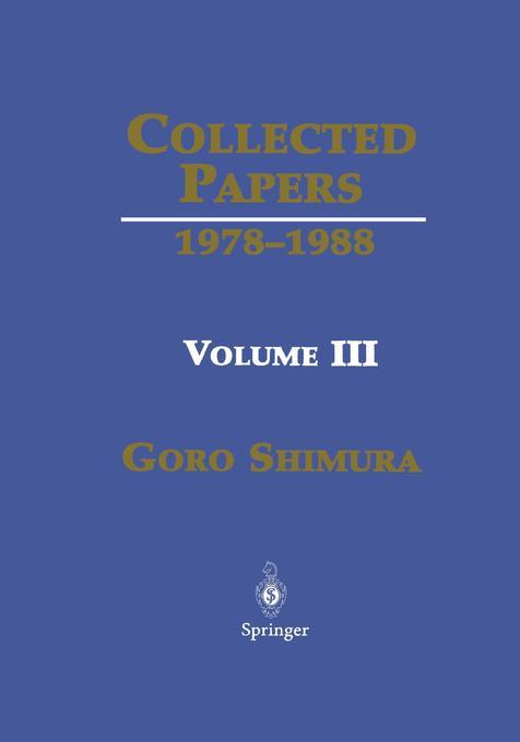 Collected Papers III: 1978 1988 als Buch (gebunden)