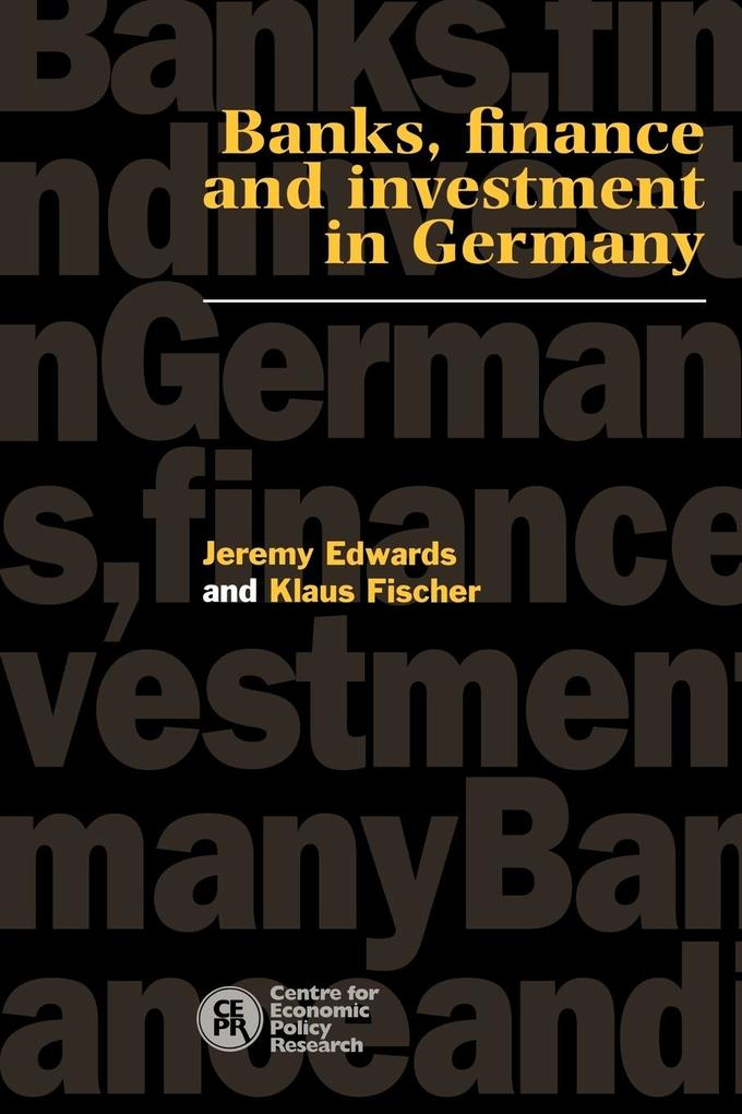 Banks, Finance and Investment in Germany als Taschenbuch