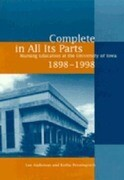Complete in All Its Parts: Nursing Education at the University of Iowa, 1898-1998
