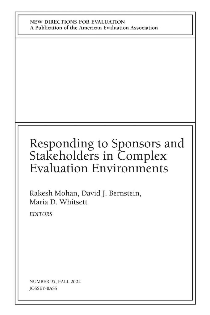 Responding to Sponsors and Stakeholders in Comp...