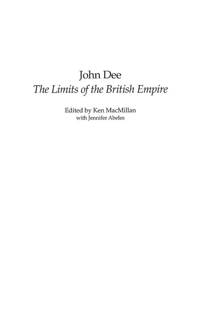 John Dee: The Limits of the British Empire als Buch