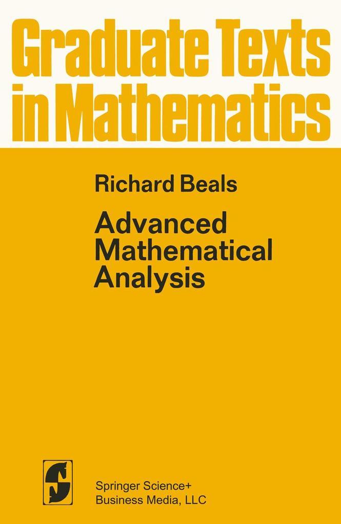 Advanced Mathematical Analysis als Buch