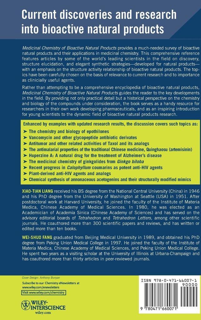 Medicinal Chemistry of Bioactive als Buch