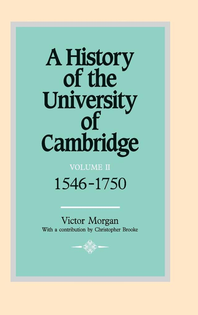 A History of the University of Cambridge als Buch