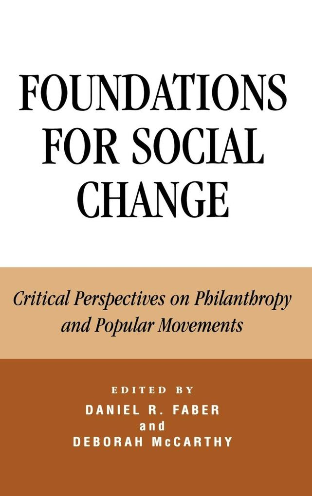 Foundations for Social Change als Buch
