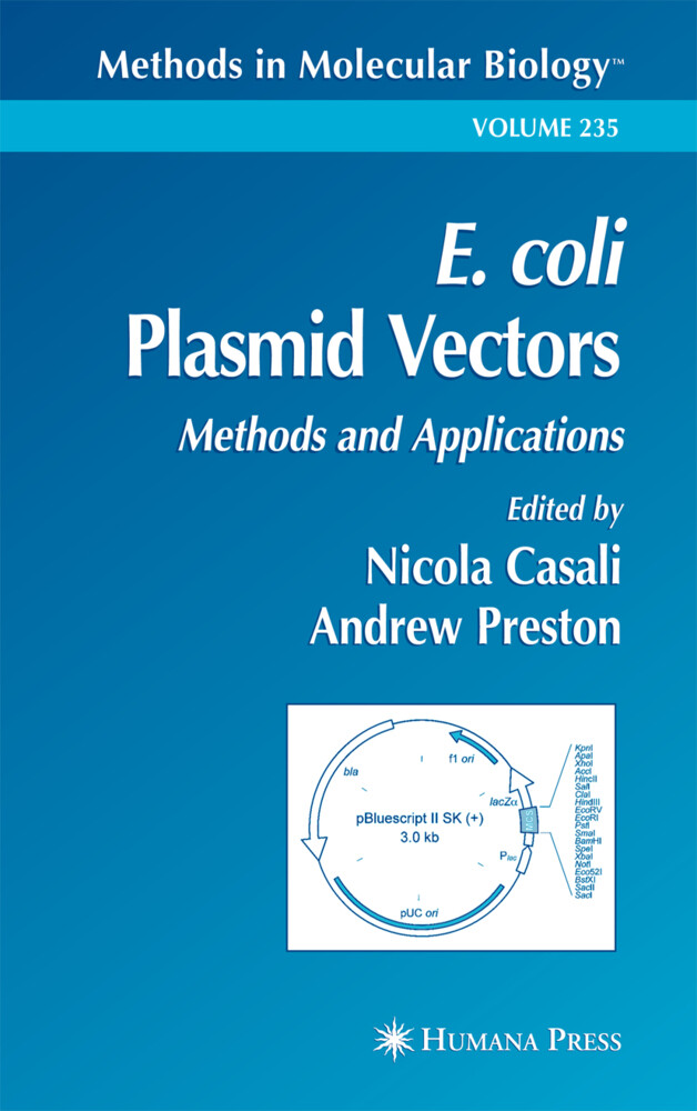 E. Coli Plasmid Vectors: Methods and Applications als Buch