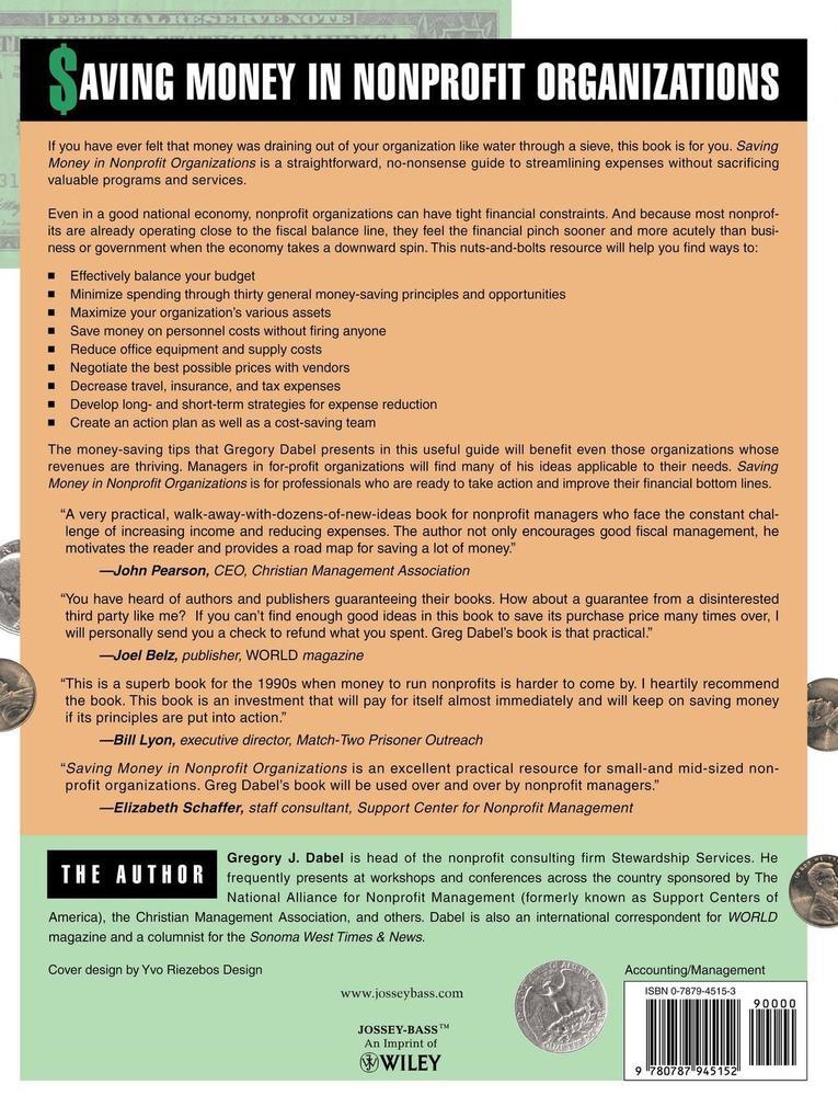 Saving Money in Nonprofit Organizations als Taschenbuch
