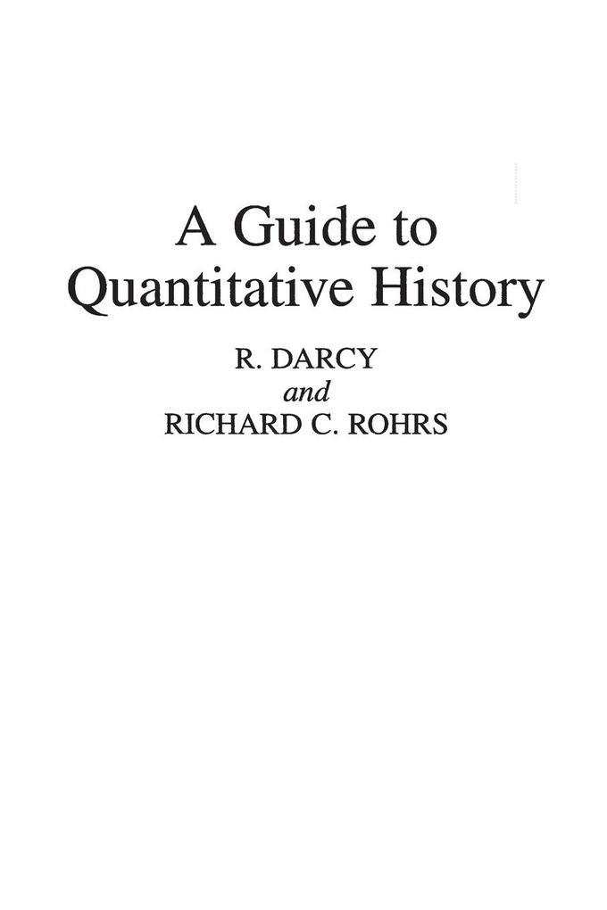 A Guide to Quantitative History als Taschenbuch
