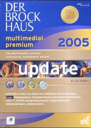 Der Brockhaus multimedial 2005 Premium, Update, 6 CD-ROMs als Software