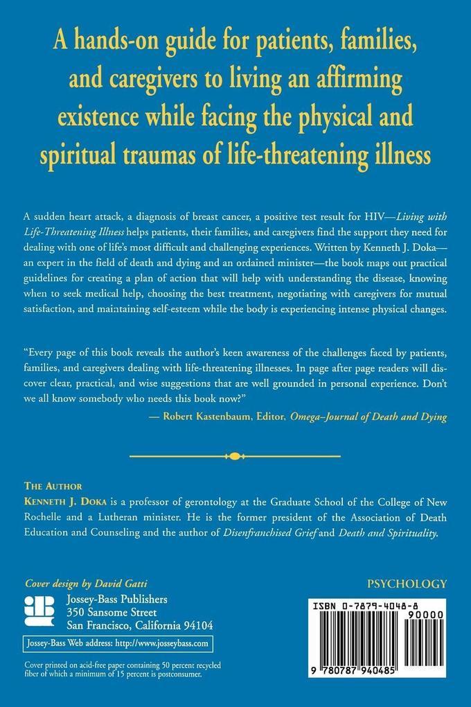 Living with Life-Threatening Illness als Taschenbuch