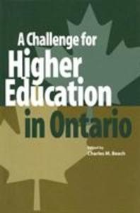 A Challenge for Higher Education in Ontario als Taschenbuch