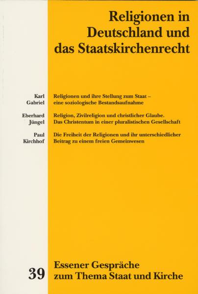 Religionen in Deutschland und das Staatskirchenrecht als Buch