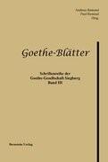 Goethe-Blätter