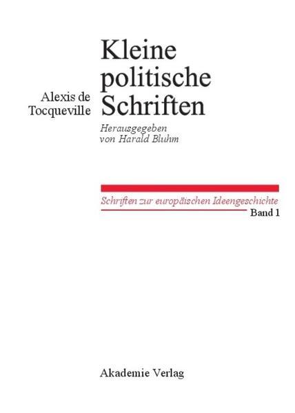 Kleine Politische Schriften als Buch