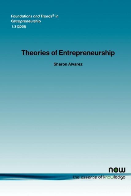 Theories of Entrepreneurship als Taschenbuch