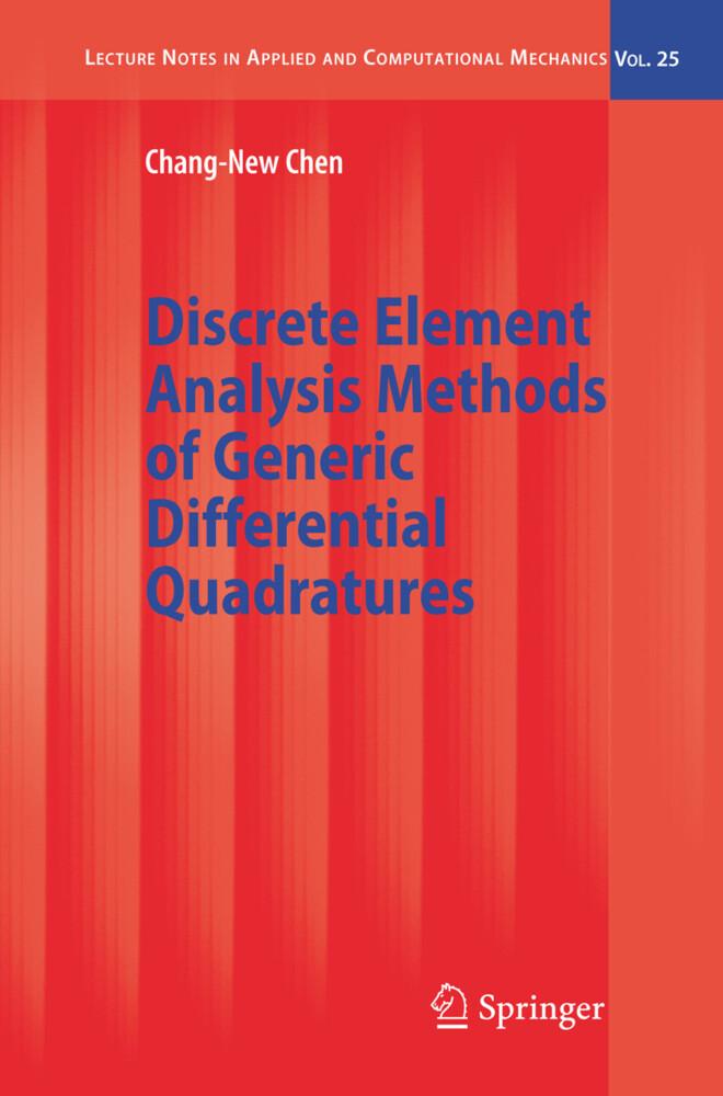 Discrete Element Analysis Methods of Generic Differential Quadratures als Buch