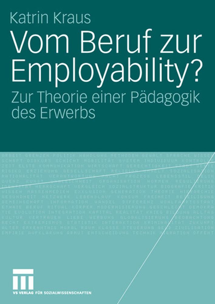 Vom Beruf zur Employability? als Buch