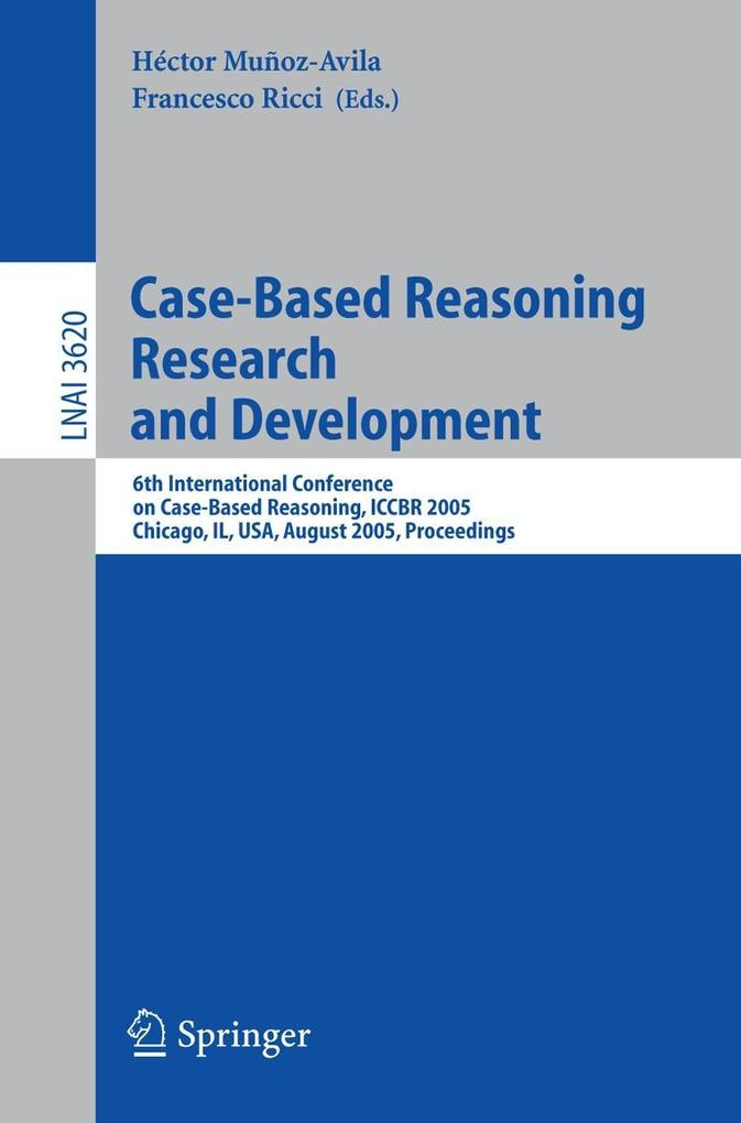 Case-Based Reasoning Research and Development als Buch