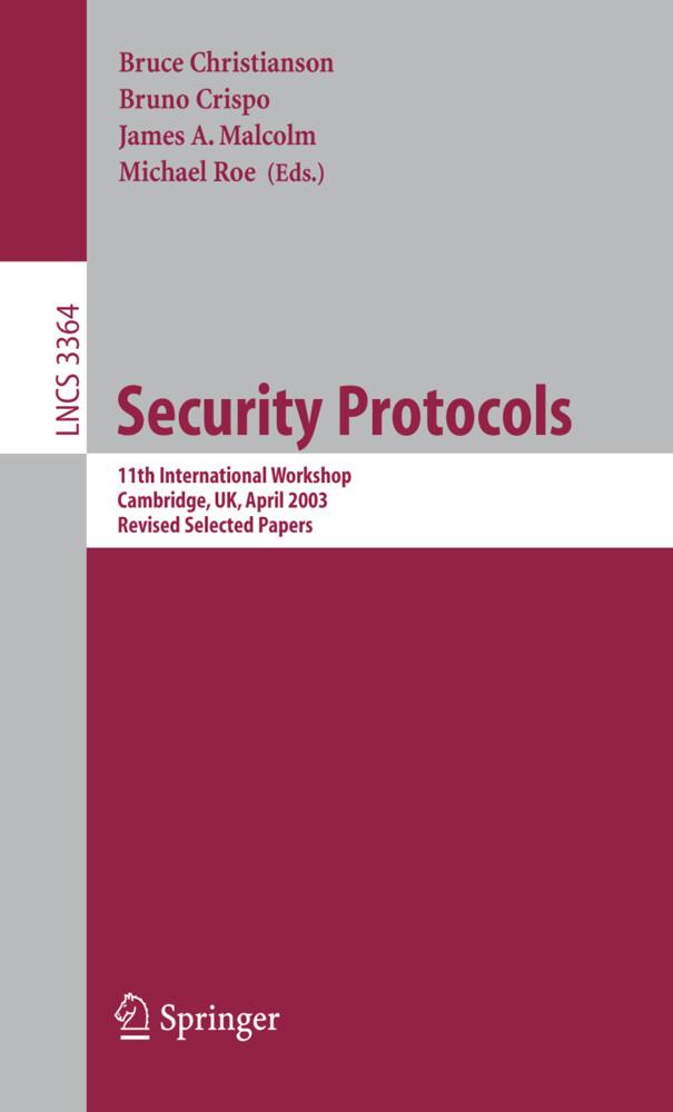 Security Protocols als Buch