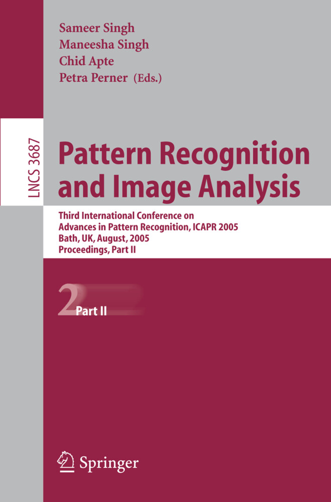 Pattern Recognition and Image Analysis als Buch