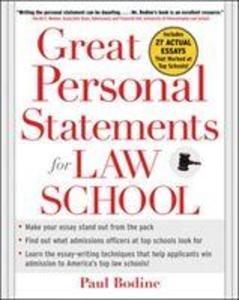 Great Personal Statements for Law School als Taschenbuch