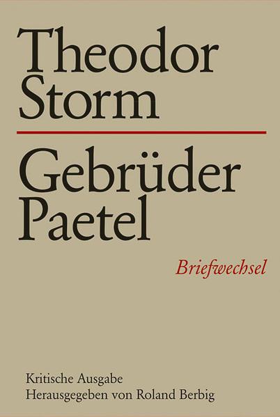 Theodor Storm - Gebrüder Paetel als Buch