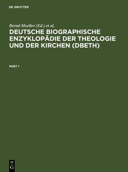Deutsche Biographische Enzyklopädie der Theologie und der Kirchen (DBETh) als Buch