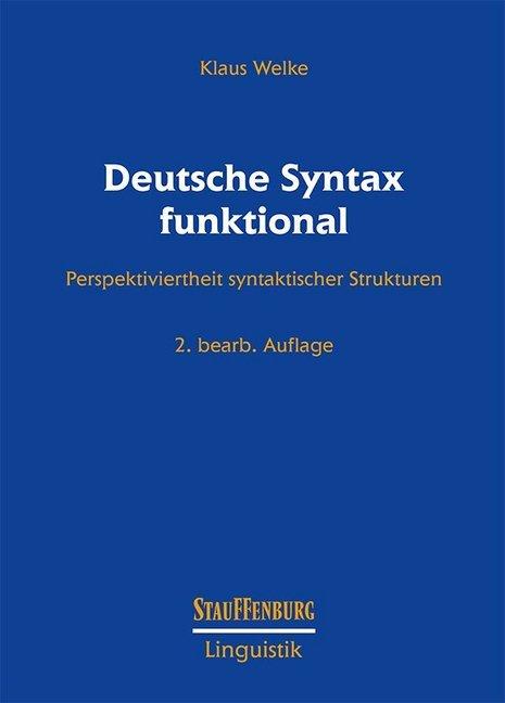 Deutsche Syntax funktional als Buch