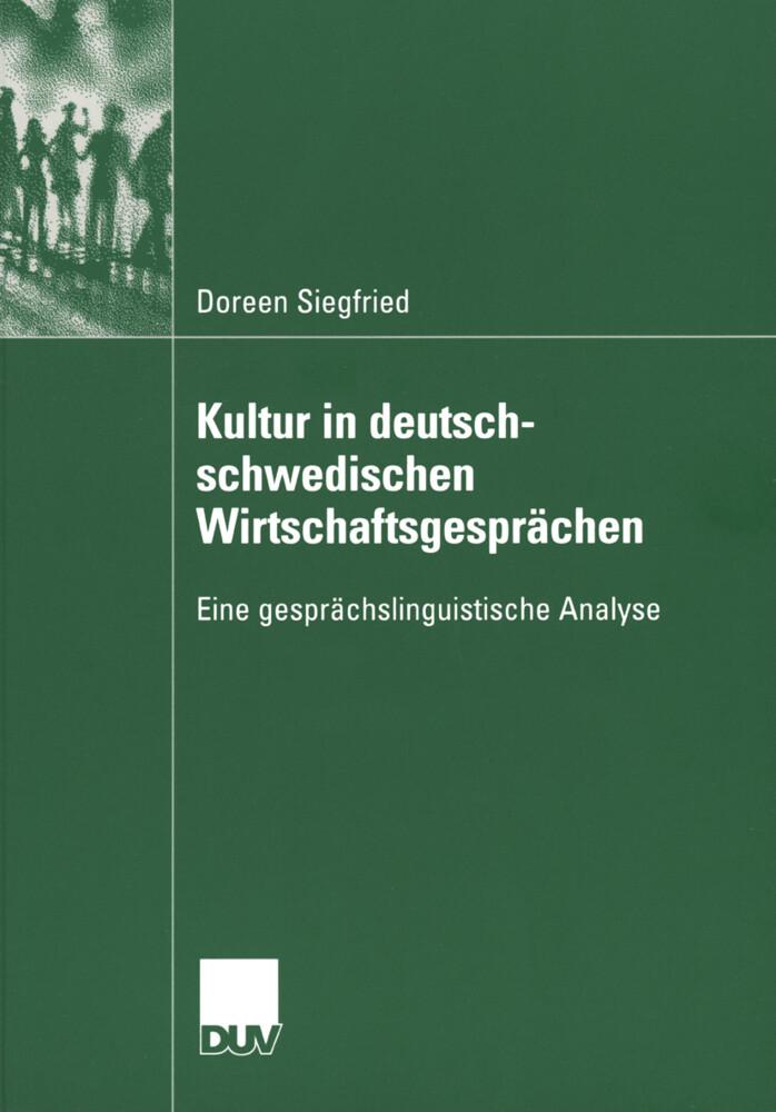 Kultur in deutsch-schwedischen Wirtschaftsgesprächen als Buch