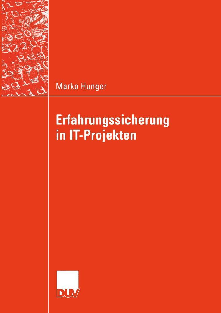 Erfahrungssicherung in IT-Projekten als Buch vo...