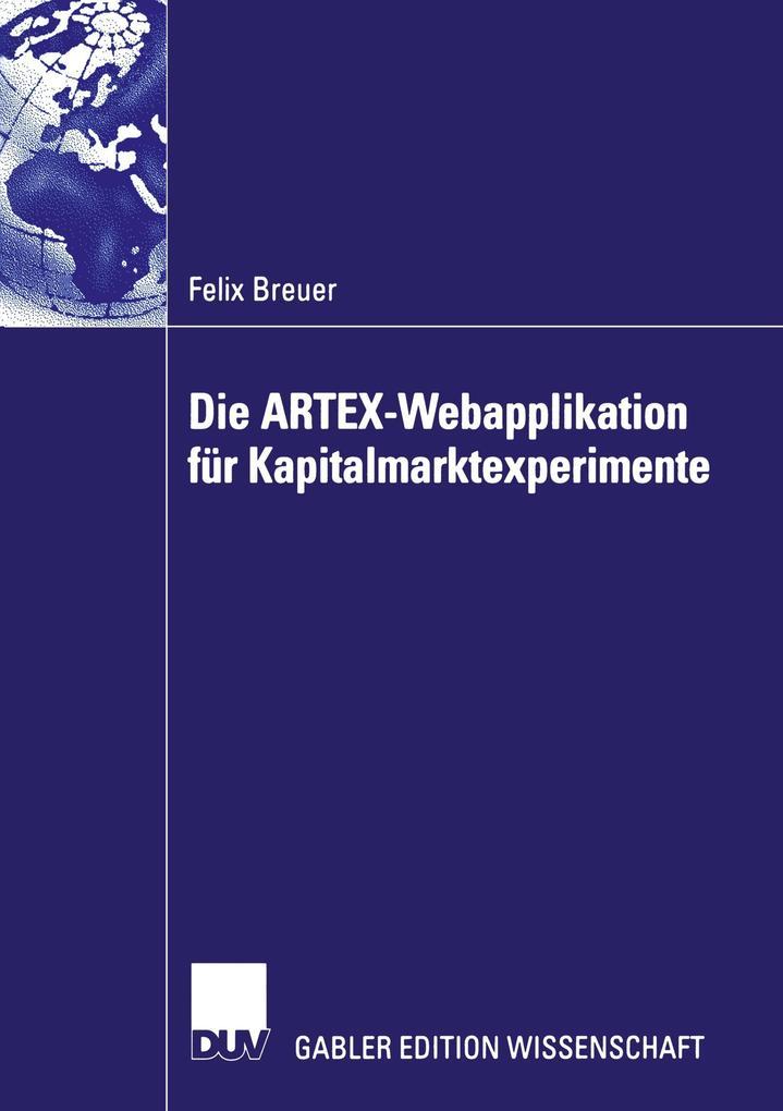 ARTEX - Eine Webplattform für Kapitalmarktexperimente als Buch