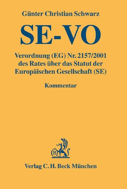 Kommentar zur Europäischen Gesellschaft - SE als Buch