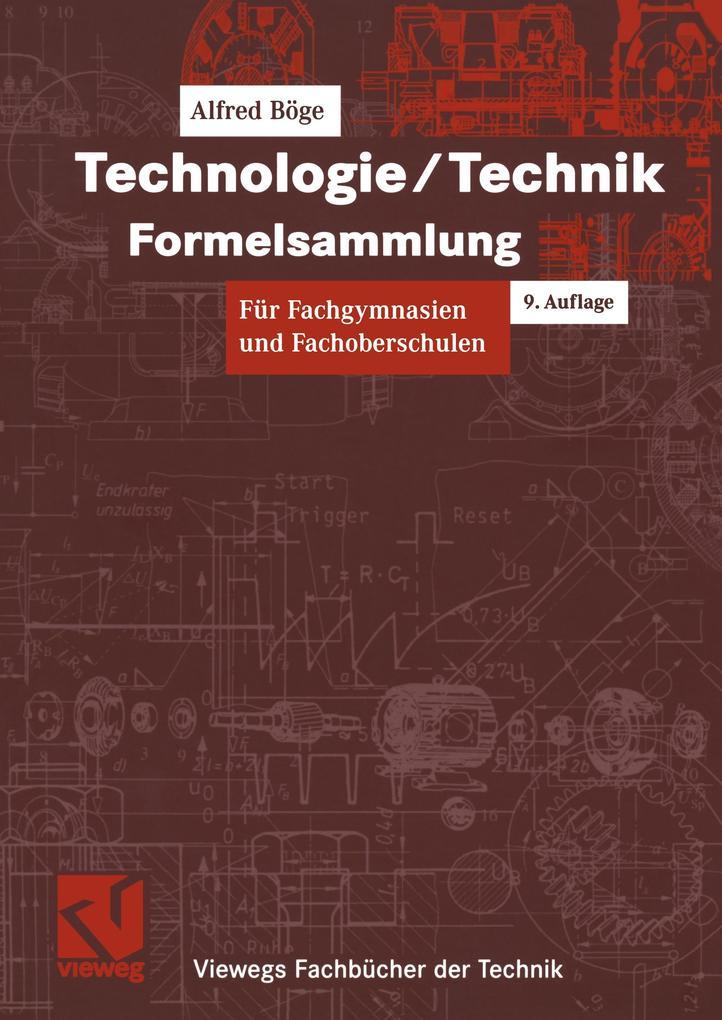 Technologie / Technik. Formelsammlung als Buch