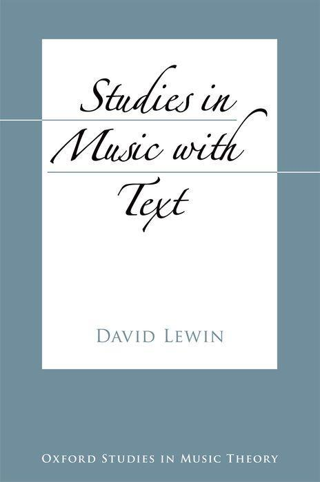 Studies in Music with Text als Buch