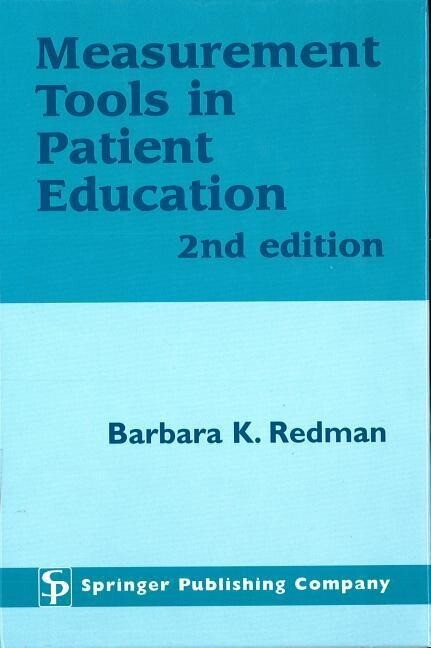 Measurement Tools in Patient Education, Second Edition als Buch