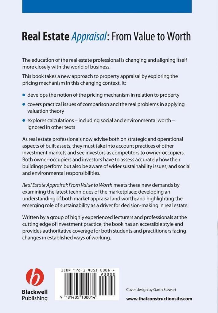 Real Estate Appraisal als Buch