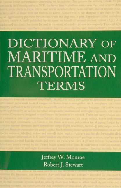 Dictionary of Maritime and Transportation Terms als Taschenbuch