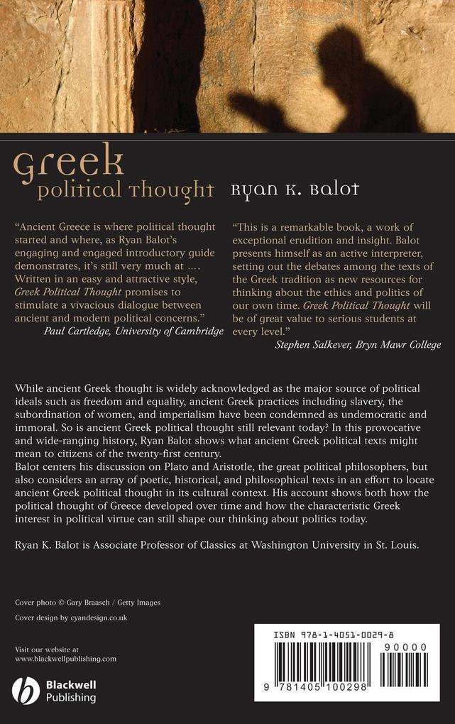 Greek Political Thought als Buch