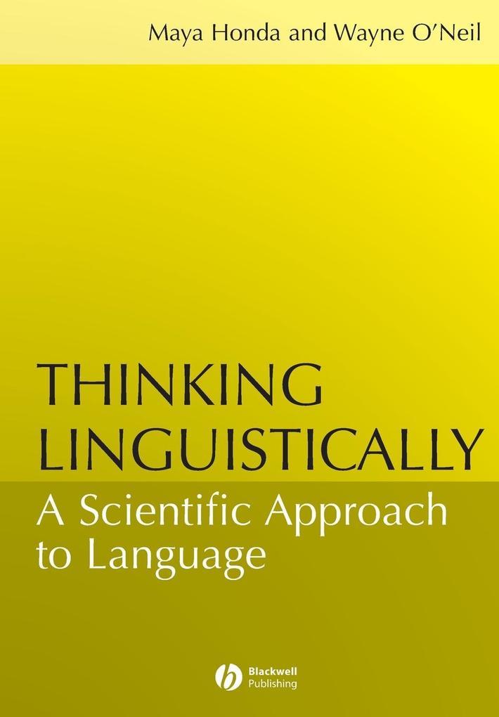 Thinking Linguistically als Taschenbuch