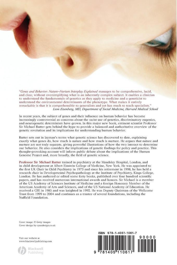 Genes and Behaviour als Taschenbuch