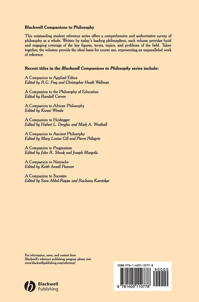 Companion to Phenomenology als Buch