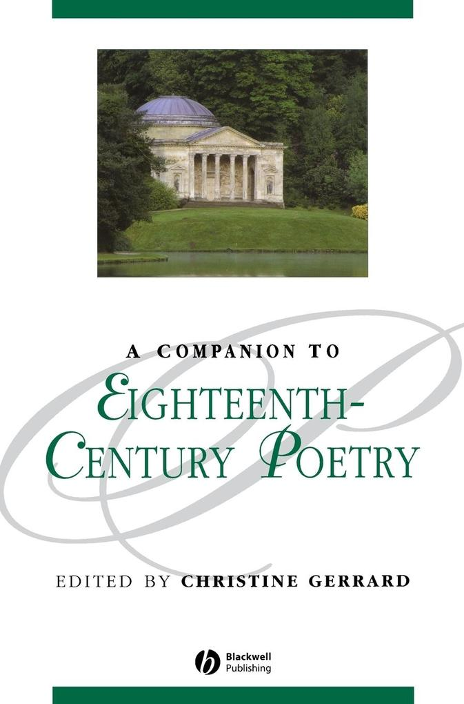 A Companion to Eighteenth-Century Poetry als Buch