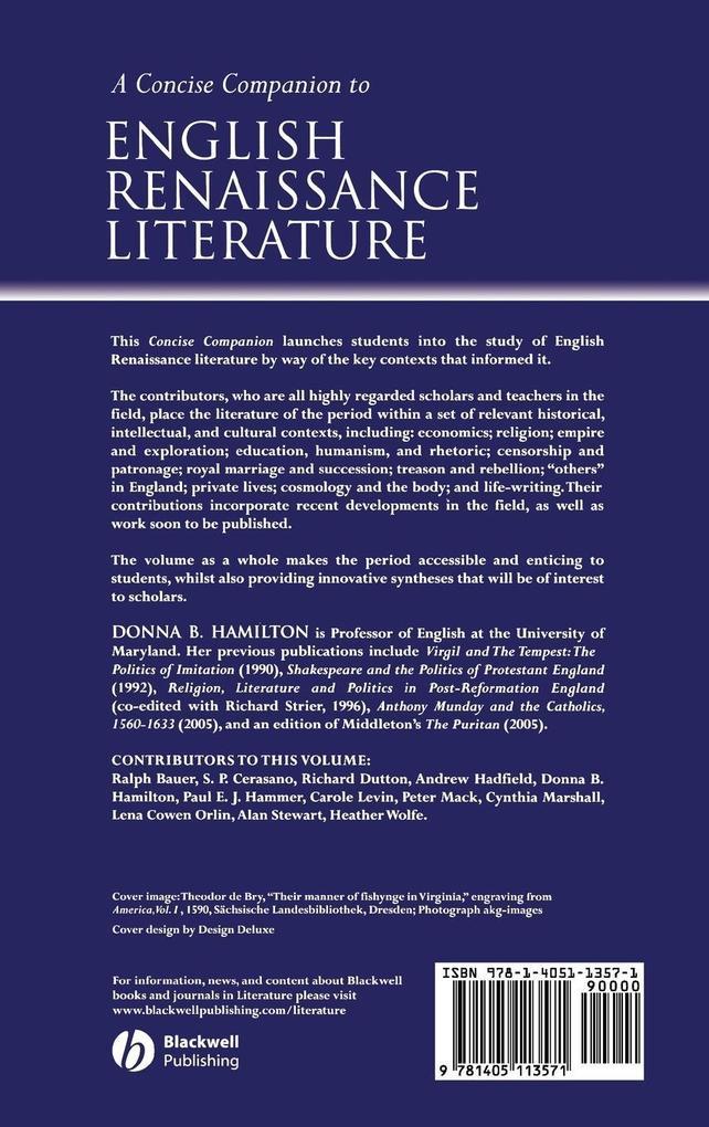 Concise Companion to English Renaissance als Buch