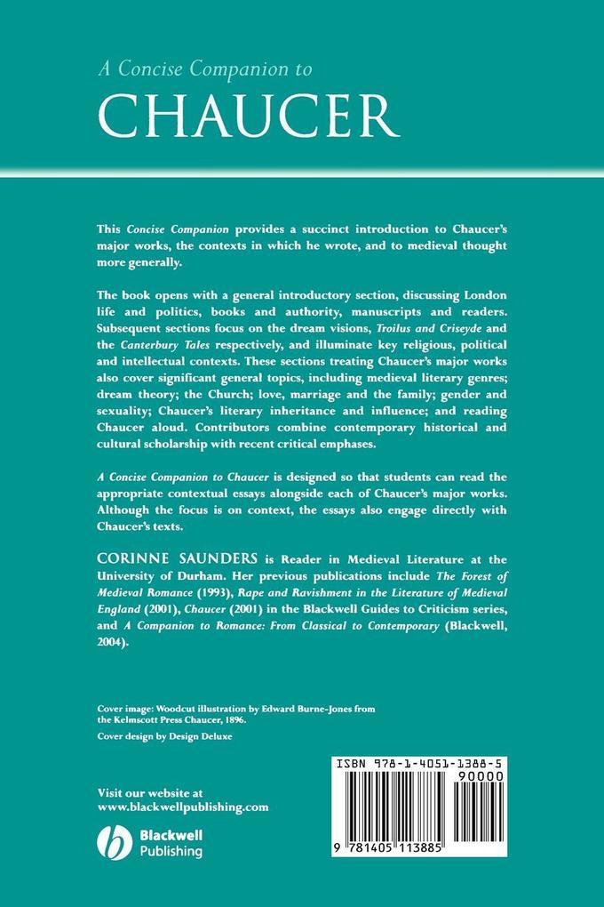 A Concise Companion to Chaucer als Taschenbuch