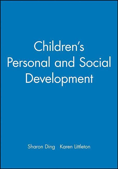 Children's Personal and Social Development als Buch