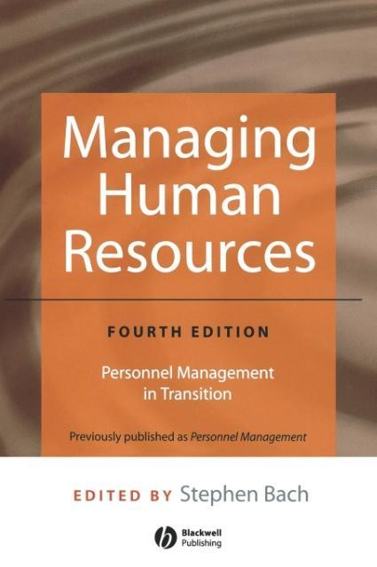 Managing Human Resources: Personnel Management in Transition als Buch