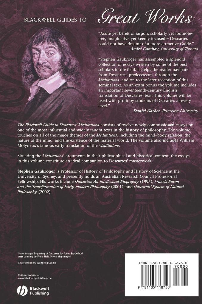 Descartes Meditations als Buch