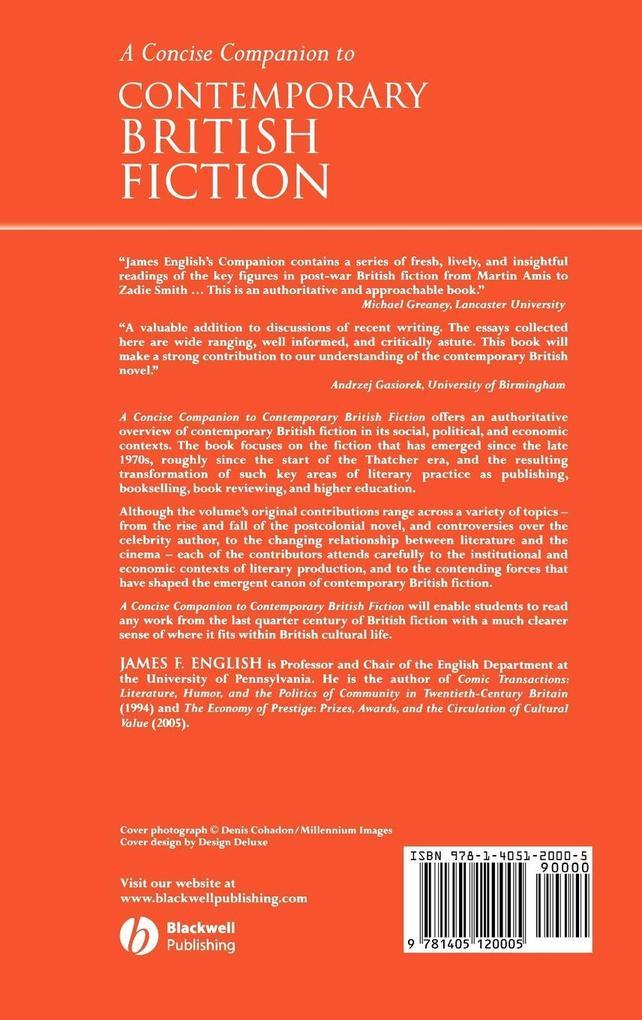 Companion to Contemporary British Fict als Buch