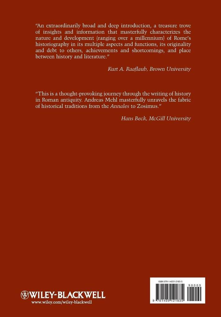 Roman Historiography als Buch